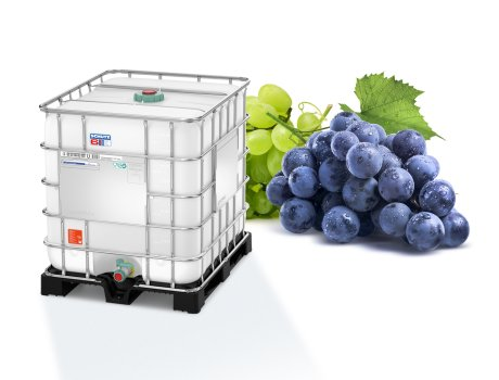 The Wine-Store-Age IBC from Schütz also convinced winegrowers in a practical application. Photo: SCHÜTZ